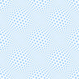 Seamless blue stars pattern. 3D optical illusion. Vector art Royalty Free Stock Photo