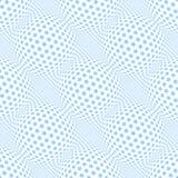 Seamless blue stars pattern. 3D optical illusion. Royalty Free Stock Photo