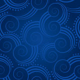 Seamless blue swirls background Stock Photo