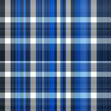 Seamless Blue Tartan Fabric Stock Images
