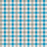 Seamless blue and taupe gingham vintage fabric textile pattern. Gingham check background. Seamless blue and taupe gingham vintage fabric textile pattern vector illustration