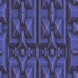 Seamless Blue Techno Background Stock Photo