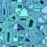 Seamless Blue Techno Background Stock Photos