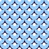 Seamless blue texture with circle elements. Royalty Free Stock Photo