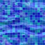 Seamless Blue Tiles, Submerged Royalty Free Stock Photo