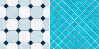 Seamless blue tone mosaic tiles Stock Photo