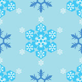 Seamless of blue tone snowflake background Stock Images