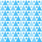 Triangles and dots seamless background texture. Seamless blue triangles and dots background. Geometric texture background Royalty Free Stock Photos
