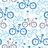 Seamless blue velocipede pattern Royalty Free Stock Photo