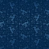 Seamless blue vintage vector background Stock Photo