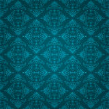 Seamless blue vintage wallpaper design Royalty Free Stock Photo