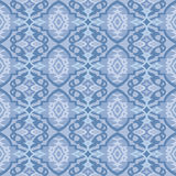 Seamless blue wallpaper pattern Stock Image