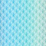 Seamless blue wave pattern Stock Photos