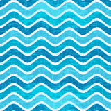 Seamless Blue Wave Striped Pattern Royalty Free Stock Image