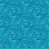 Seamless blue waves texture. Vector Stock Photos