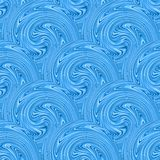 Seamless blue waves texture. Vector Royalty Free Stock Photo