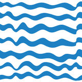 Seamless blue waves Royalty Free Stock Photography