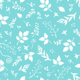 Seamless blue and white floral pattern. Vector illustration. Royalty Free Stock Photos