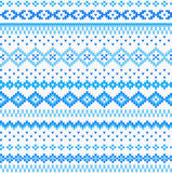 Seamless blue and white knitted background Stock Photography