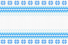 Seamless blue and white knitted background Royalty Free Stock Image