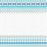 Seamless blue and white knitted background Royalty Free Stock Photo