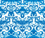 Seamless blue and white pattern Stock Image