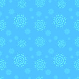 Seamless blue winter background with snowflakes. Royalty Free Stock Photos