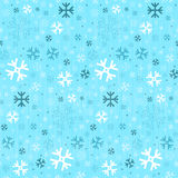 Seamless Blue Winter Background with Snowflakes Stock Image