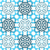Seamless blue winter damask pattern Stock Image