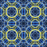 Seamless. Blue-yellow fractal background Royalty Free Stock Photo