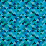 Seamless blue zig zag triangle pattern Royalty Free Stock Image