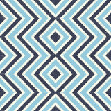 Seamless blue zigzag rhombus stripes pattern Royalty Free Stock Photo