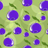Seamless blueberry background stock photos