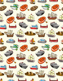 Seamless boat pattern. Drawing Royalty Free Stock Images