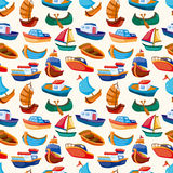 Seamless boat pattern. Vector,illustration Stock Photography