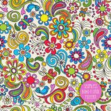 Seamless Boho floral pattern for backgrounds, papers, fabrics Stock Photography