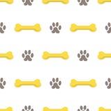 Seamless Bones for Dog Pattern Stock Photos