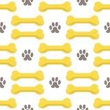 Seamless Bones for Dog Pattern Royalty Free Stock Photos