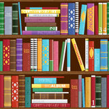 Seamless book shelves background. Stock Photography