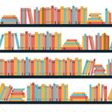Seamless books, seamless pattern with books, library bookshelf, library, bookstore, books on a shelves in library, flat books,. Seamless pattern book shelf with Royalty Free Stock Photos