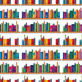 Seamless books on the shelf Royalty Free Stock Image