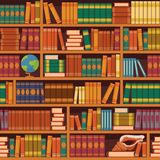 Seamless vector bookshelve pattern