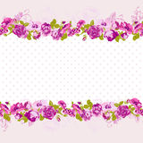 Seamless Border of blossom roses. Royalty Free Stock Image
