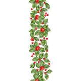Seamless border from Christmas holly berry. EPS 10 vector Stock Photography