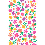 Seamless border with cute flowers Stock Photography