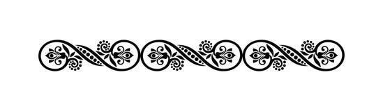 Free Seamless Border Design Of Fancy Flower Stock Images - 173128374