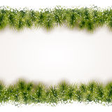 Seamless border of fir twigs with snow Royalty Free Stock Photos