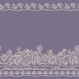 Seamless border floral pattern edge fabric Royalty Free Stock Photo