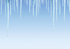 Seamless border with icicles Stock Photography