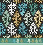 Seamless border pattern with christmas  trees Stock Images
